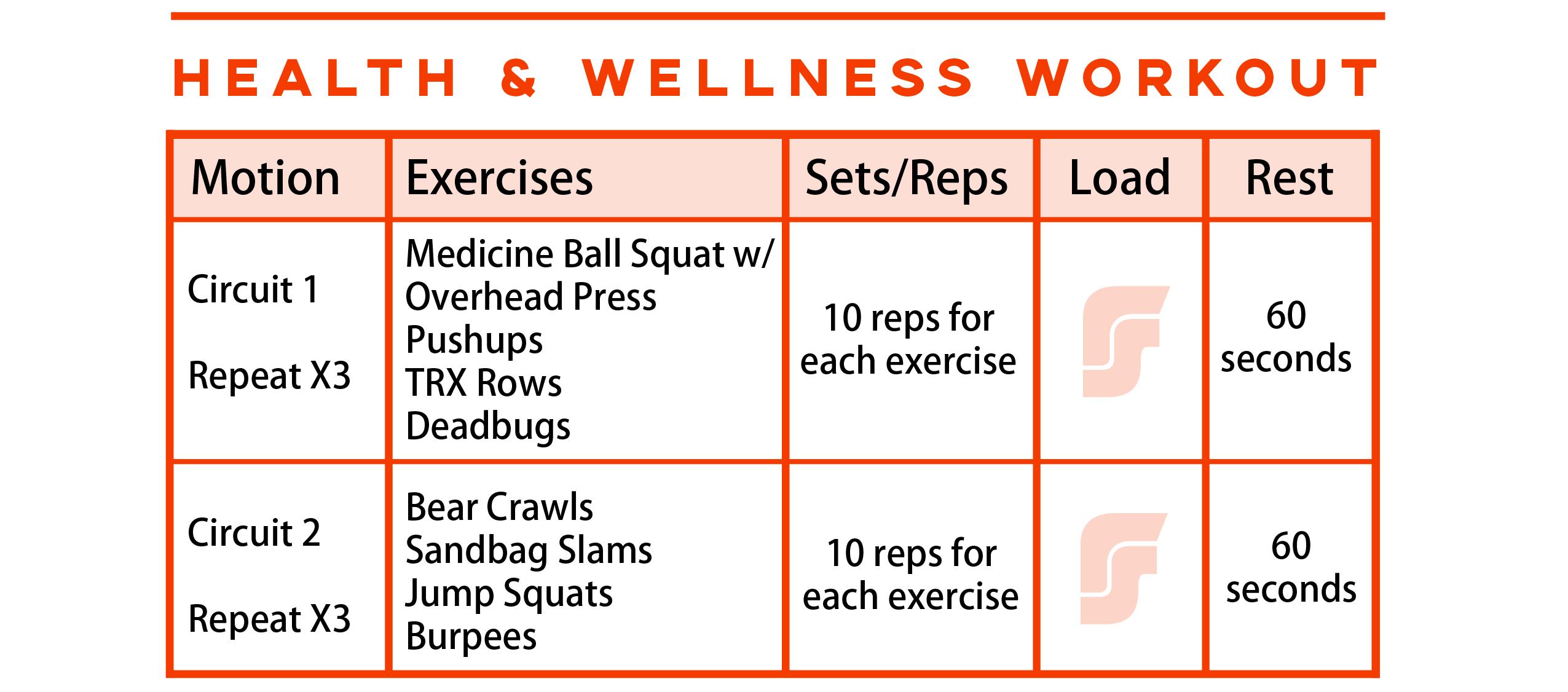 Health & Wellness Workout