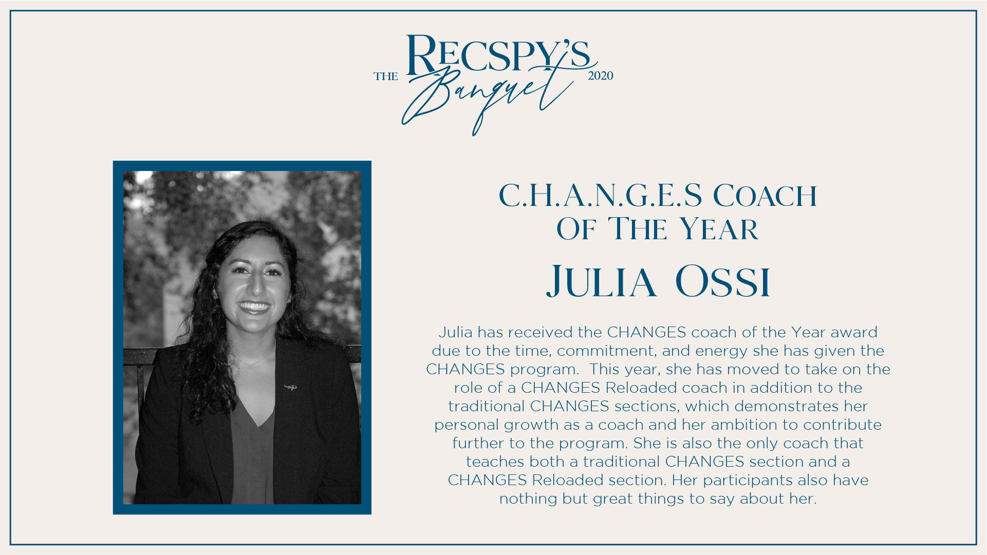 Julia Ossi: CHANGES Coach of the Year