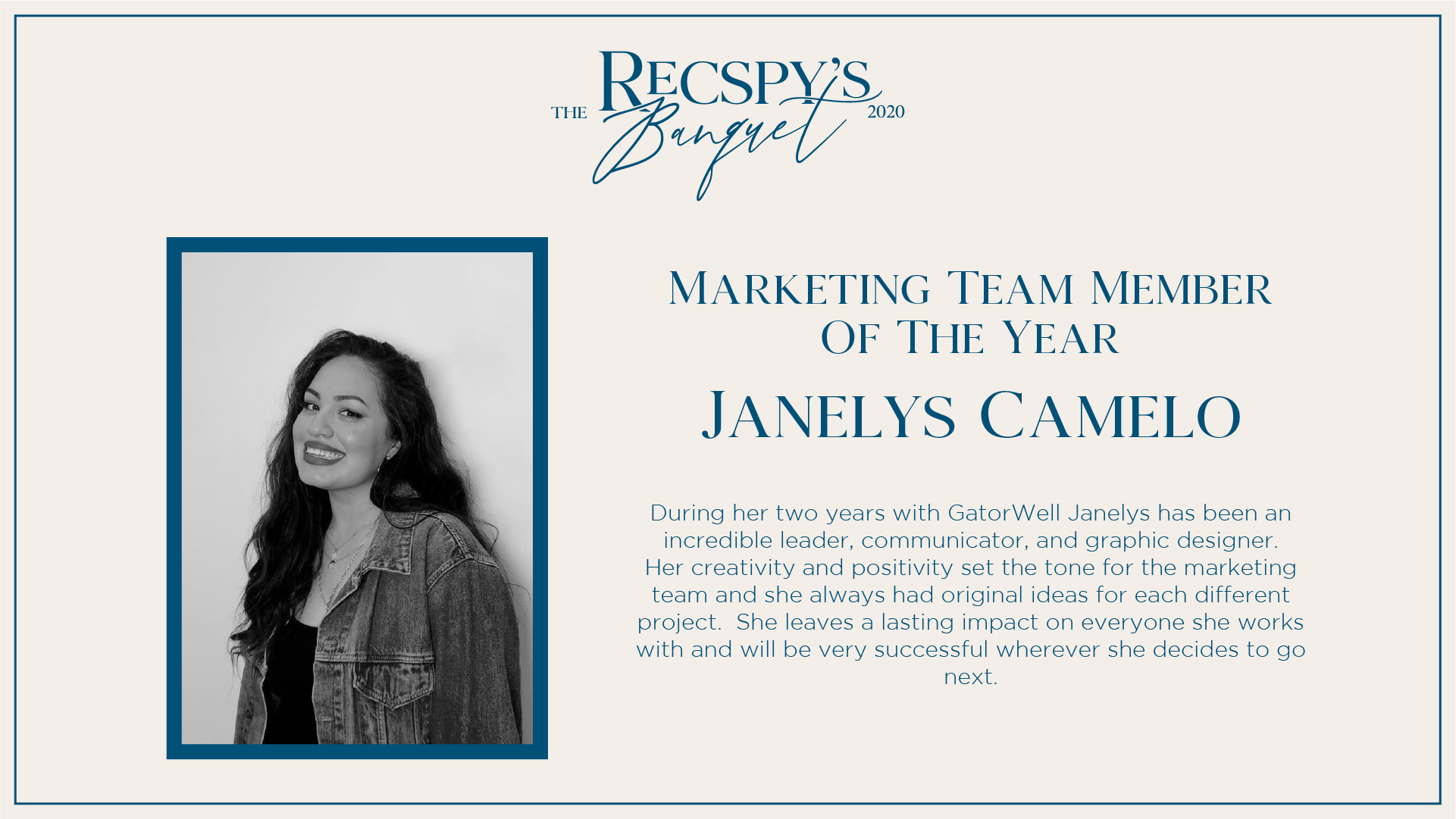 Janelys Camelo: GatorWell Marketing Team Member of the Year