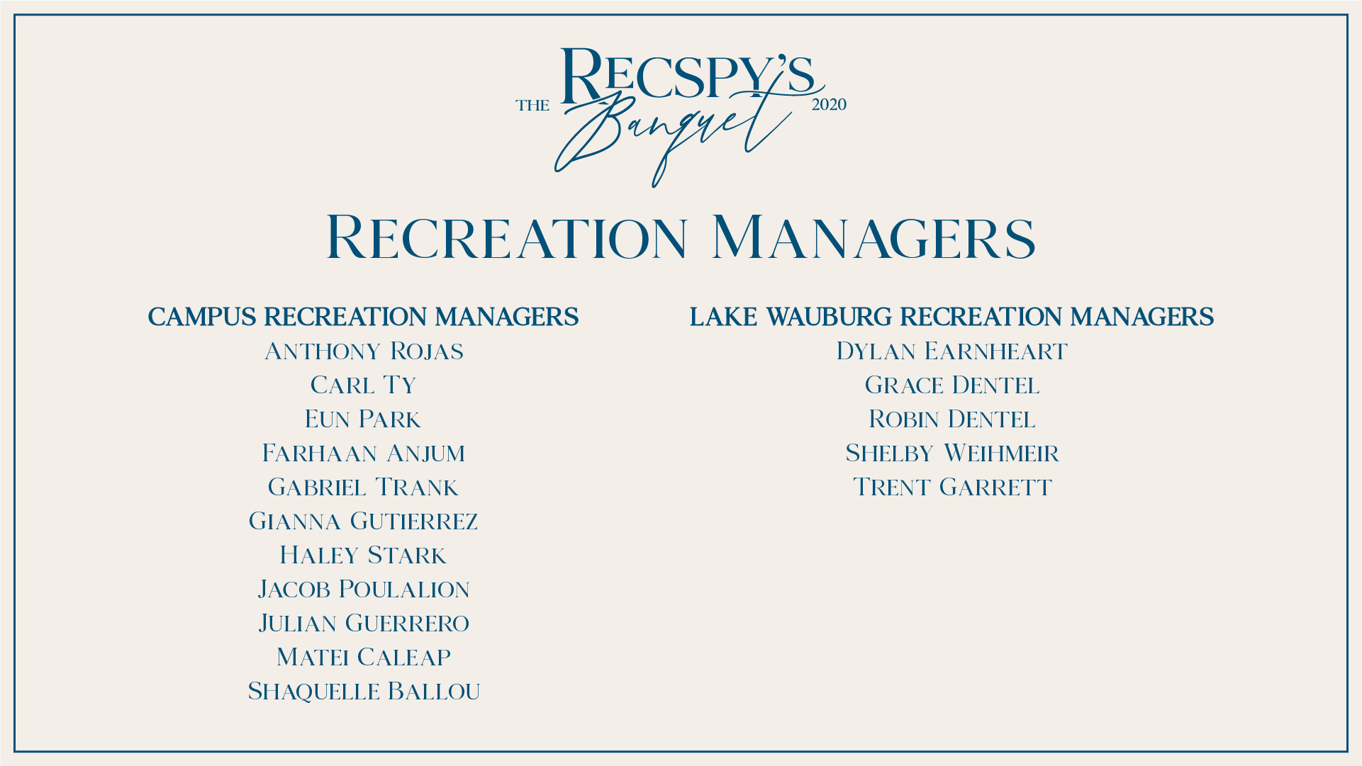 Recreation Managers